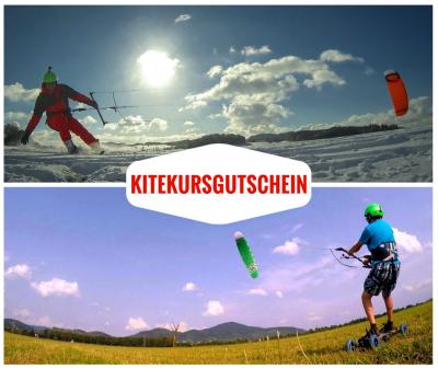 Kitekursgutscheine als Geschenk für Beginner und Fortgeschrittene, um Kiten zu Erlernen. Der Beschenkte erlernt bei uns Snowkiting, Kitelandboarding und als Vorbereitung für das Kitesurfing.