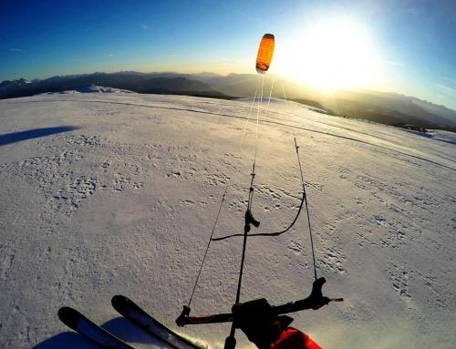 Subzero V1 von OZONE Kites, der Backcountry snowkite