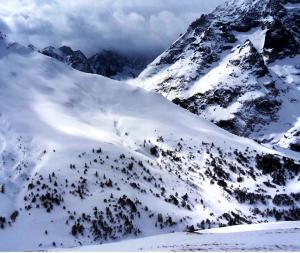 Snowkiting am Col du Lautaret