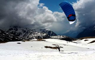 Die Ozonekites sind besonders für den Snowkiteeinsatz geeignet.