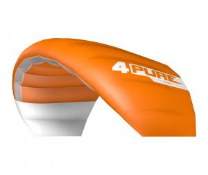 Der Purev1 von Ozonekites für Snowkite odenwald gibt es auch in der Farbe orange.