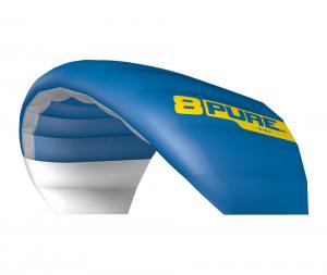 der neue Purev1 von Ozonekites gibt es in der Farbe blau. Wir benutzen ihn in unserer Kiteschule..