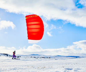 der neue Purev1 von Ozonekites ist der ideale snowkite zum Einstieg.