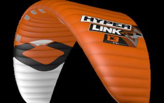 Der neue HyperlinkV2 von Ozone Kites ist ein Foilkite, der sich wie ein Tubekite fliegt. Hier sieht man die Farbe orange.